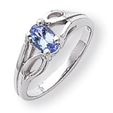 Polished 6x4 Oval Gemstone Ring Mounting 14k White Gold Y2097