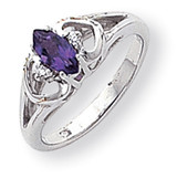 0.02ct. Diamond & 7x30.5 Marquise Gemstone Ring Mounting 14k White Gold Y2178