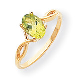 7x5 Oval Gemstone Ring Mounting 14k Gold Polished Y2197