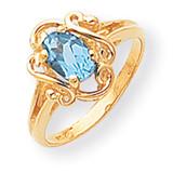 7x5 Oval Gemstone Ring Mounting 14k Gold Polished Y2227