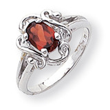 Polished 7x5 Oval Gemstone Ring Mounting 14k White Gold Y2228