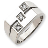 Men's .16ct. Diamond Ring Mounting 14k White Gold Y3902