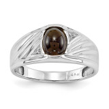 Mens Diamond and Onyx Ring Mounting 14k White Gold Y3986