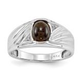 Diamond men's ring 14k White Gold Y3986AA