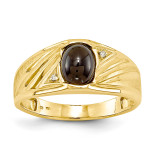 Mens Diamond and Onyx Ring Mounting 14k Gold Y3987