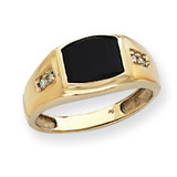Mens Diamond and Onyx Ring Mounting 14k Gold Y4007