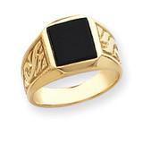 yellow men's onyx ring mounting 14k Gold Y4015