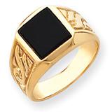 Men's Onyx Ring 14k Gold Y4015OX