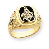 Diamond men's masonic ring 14k Gold Y4035A