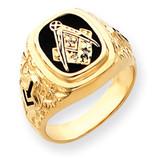 Diamond men's masonic ring 14k Gold Y4035MAA