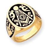 Men's Masonic Ring 14k Gold Y4041M