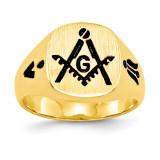 Men's Masonic Ring 14k Gold Y4047M