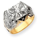 Diamond men's masonic ring 14k Gold Y4049MAA