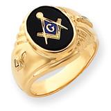Men's Masonic Ring 14k Gold Y4062M
