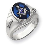 white masonic ring mounting 14k Gold Y4063