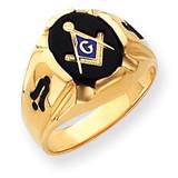 Men's Masonic Ring 14k Gold Y4066M