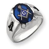 Men's Masonic Ring 14k White Gold Y4067M