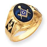 Men's Masonic Ring 14k Gold Y4075M