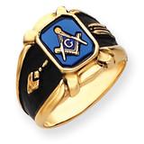 Men's Masonic Ring 14k Gold Y4076M