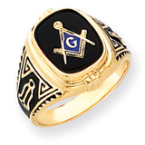 Men's Masonic Ring 14k Gold Y4078M