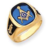 Men's Masonic Ring 14k Gold Y4080M