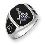 Men's Masonic Ring 14k White Gold Y4085M