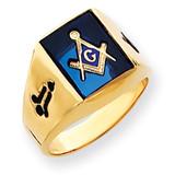 Men's Masonic Ring 14k Gold Y4090M