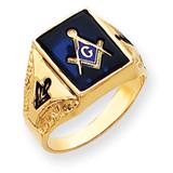 Men's Masonic Ring 14k Gold Y4094M