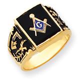 Men's Masonic Ring 14k Gold Y4096M