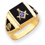 Men's Masonic Ring 14k Gold Y4098M
