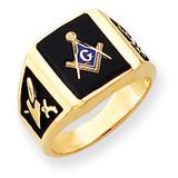Men's Masonic Ring 14k Gold Y4100M