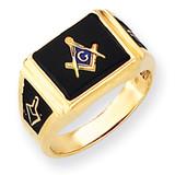 Men's Masonic Ring 14k Gold Y4108M