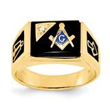 Diamond Men's Masonic Ring 14k Gold Y4110MAA