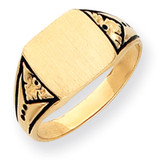 Antiqued Signet Ring 14k Gold Y4139