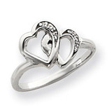 0.02ct. Diamond Heart Ring Mounting 14k White Gold Y4145