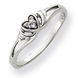 Diamond Heart Ring 14k White Gold Y4176AA