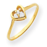 Diamond heart ring 14k Gold Y4185AA
