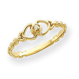 0.01ct. Diamond Heart Ring Mounting 14k Gold Y4200