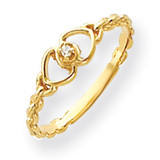 Diamond heart ring 14k Gold Y4200AA