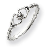 Diamond heart ring 14k White Gold Y4201AA