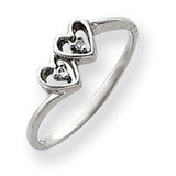 Diamond heart ring 14k White Gold Y4208AA