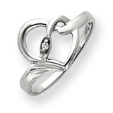 Diamond heart ring 14k Gold Y4218AA