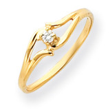 Diamond ring 14k Gold Polished Y4255AA