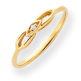 Diamond ring 14k Gold Polished Y4258AA
