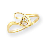 0.01ct. Diamond Ring Mounting 14k Gold Y4261