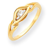 Diamond ring 14k Gold Polished Y4290AA