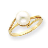 7.5mm Cultured Pearl ring 14k Gold Y4313PL/AA