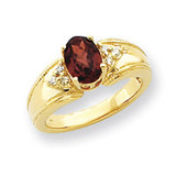 8x6mm Gemstone & .10ct. Diamond Ring Mounting 14k Gold Y4452