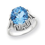 Gemstone Ring Mounting 14k White Gold Y4515