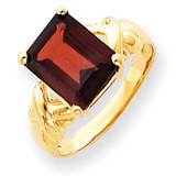 11x9mm Emerald Cut Garnet ring 14k Gold Y4533GA
